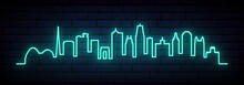 Blue Neon Skyline Of Kansas Ci...