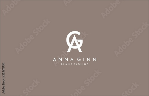 Letter AG Luxury Logo Ideal for Fashion Beauty Brand Canvas Print