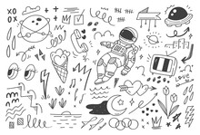Abstract Mix Doodle Vector Illustration