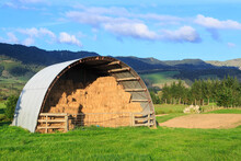 A Corrugated Iron Arched Barn ...