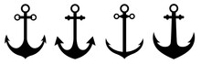 Anchor Icon Set. Anchor Symbol...