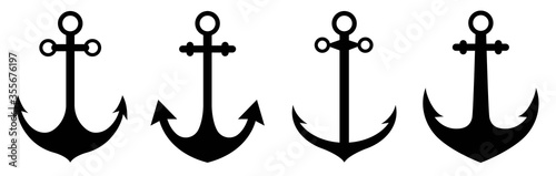 Fotografía Anchor icon set