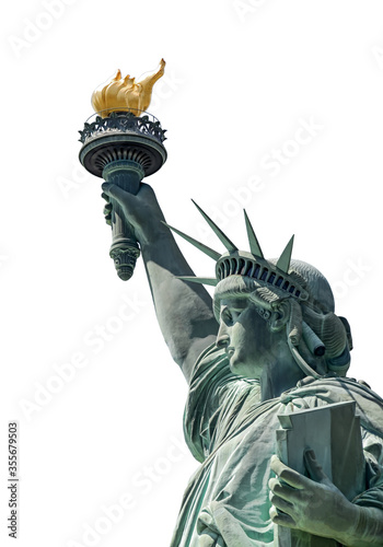 monument statue of liberty in new york close-up Fototapet