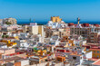 Aerial view of Spanish town Almeria