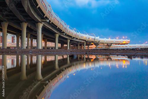 Fototapeta Expressway on the bridge