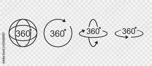 Fotomural 360 degrees line icon