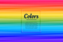 Abstract Rainbow Color Vibrant Lines Background Design