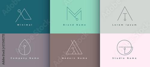 Fotografía minimal logo design collection of six template