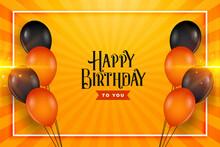 Happy Birthday Balloons Wishes...