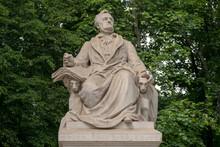 The Richard Wagner Monument, Memorial Sculpture Located In Tiergarten In Berlin, Germany