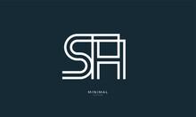 Alphabet Letters Icon Logo SH