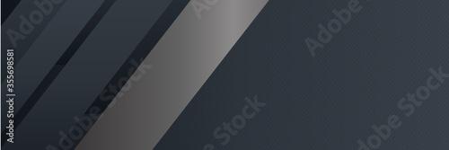 Fototapeta Black Metal Background for Wide Banner. Vector illustration design for presentation, banner, cover, web, flyer, card, poster, wallpaper, texture, slide, magazine, and powerpoint. obraz
