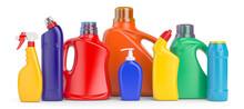 Set Of Detergent Plastic Bottl...