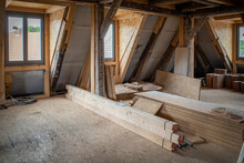 Some New Wooden Dormers Are Installed In An Old Half-timbered House
