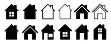 Home Flat Icon Set Vector Illu...