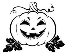 Silhouette Of Halloween Pumpkin