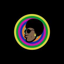 Funk African Man Face Logo Ico...