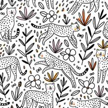 Cheetahs Hunting Butterflies, ...