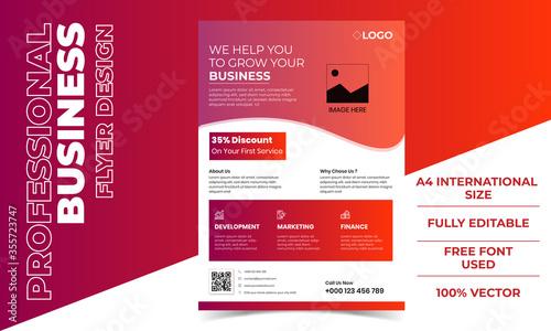 Photo Modern Professional Gradient Business Flyer Design Template