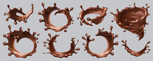 Splash Chocolate Vector Realis...