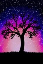 Paisagem árvore Com Fundo De ...
