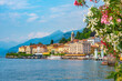 canvas print picture - Lakeside view of Italian town Bellagio situated at lake Como