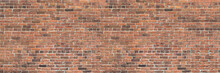 Dark Brown Old Bricks Wall Pan...