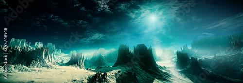 3d rendering of fantasy planet illustration