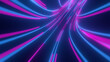 canvas print picture - Violet, blue, pink abstract radial lines geometric black background. Glow effect. Retro neon colors. Colorful backdrop. Neon lights. 3d render
