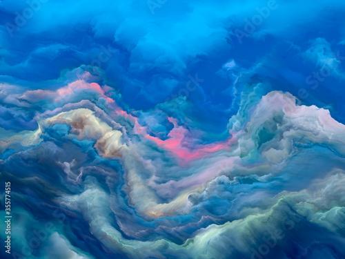 Computing Cloudscape Canvas Print