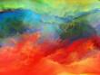 Leinwandbild Motiv Colorful Cloud Background