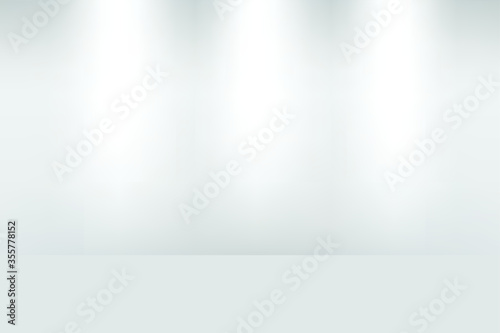 white and grey gradient abstract studio room background for valentine, christmas and displaying product Canvas Print
