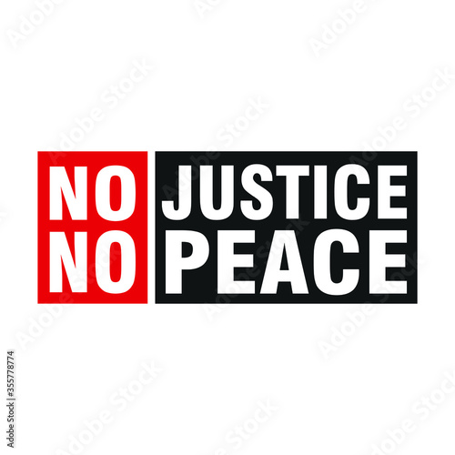 No Justice No Peace Canvas Print