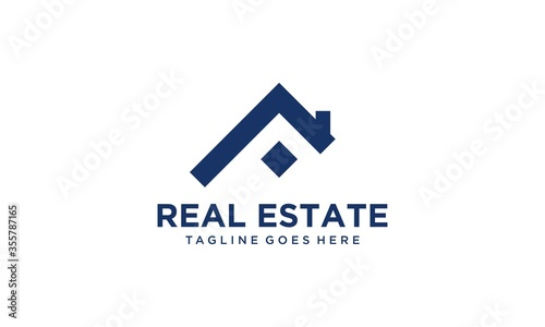 Obraz Creative and modern home for real estate and building logo design vector editable - fototapety do salonu