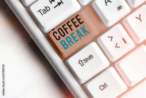 Word writing text Coffee Break Wallpaper Mural