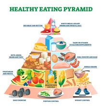 Healthy Eating Pyramid Vector ...