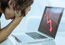 Depressed Male Stock Investor ...