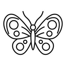 Collection Butterfly Icon. Out...