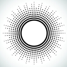 Halftone Dots In Circle Form. ...