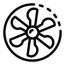 Fan Blades In A Circle Icon. O...