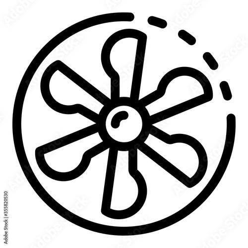 Fotografia Fan blades in a circle icon