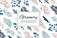 Vector Floral Design Card. Gre...
