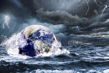 Earth Flooded During A Sea Sto...