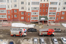 Fire Engine In The Courtyard O...