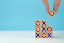 Wooden Block Tic Tac Toe Board...