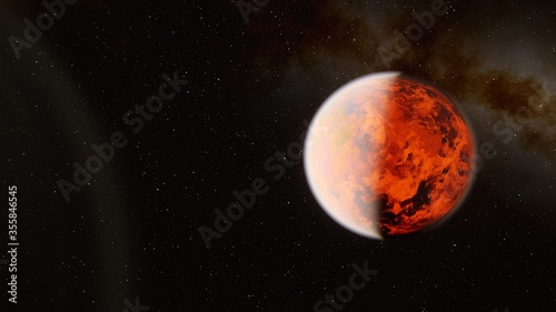 Fototapety, obrazy: space background, beautiful planet in far space, space background for design, outer space, planets in science fiction, exo-planet, earth-like planet