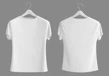 Blank Front And Back White T-s...