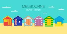 Australian Beach Boxes. Flat V...