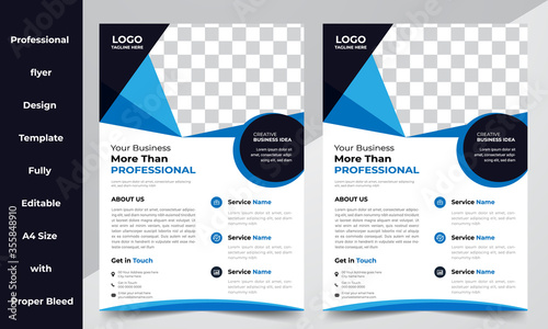 Abstract Corporate Flyer Brochure Design Template Slika na platnu