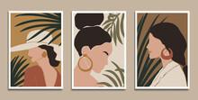 Modern Art Prints In Boho Style. Eps10 Vector.